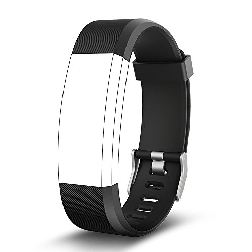 endubro Pulsera Repuesto para Fitness Tracker ID115 HR Plus (Negro)