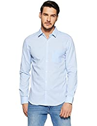 United Colors Of Benetton Men's Geometric Print Slim Fit Casual Shirt - B07BMXRWC4