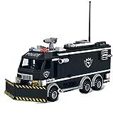 Modbrix 1222 - SWAT Polizei Mannschaftswagen inkl. custom SWAT Minifiguren und Waffen