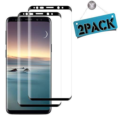 GOMAN Protector de Pantalla Samsung Galaxy S8 [2 Unidades], Cristal Templado Samsung S8, Alta Definicion, Dureza 9H, Cristal Vidrio Templado Protector Pantalla para Samsung Galaxy S8 - Negro