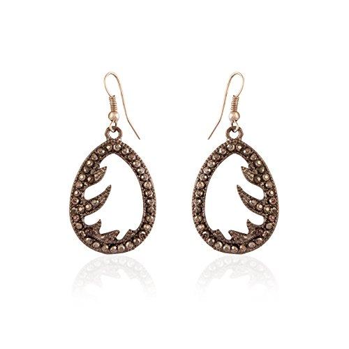 AccessHer Matt Black Dangler Earrings for Women