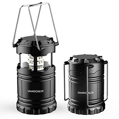 Faltbare LED Campinglampe - Camping Lantern - Collapses-Super Hell- Leicht - Wasserdicht - Perfekt geeignet für Wandern, Zelten/Camping, Angeln