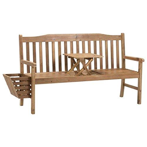 Gartenbank Holz braun OUTLIV. Sydney 3-Sitzerbank 150cm Akazie FSC Sitzbank Gartenmöbel - 4