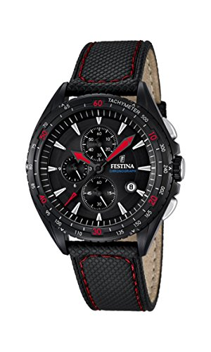 Festina Herren-Armbanduhr Chronograph Quarz Leder F16847/4