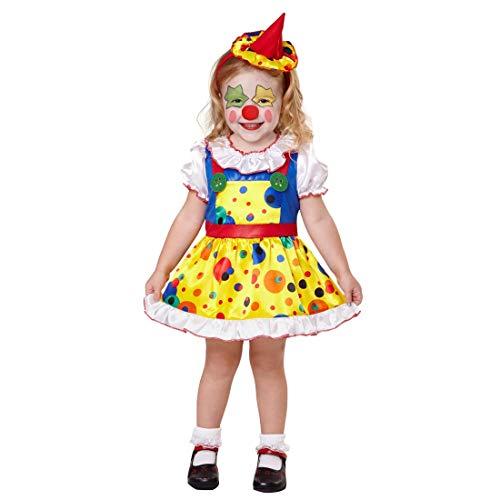 NET TOYS Costume Mignon pour Enfant Clown | Multicolore en Taille 111 - 116 cm, 4 - 5 Ans | Déguisement Original pour Jeune Enfant Arlequin de Cirque | Parfait pour Le Carnaval des Enfants