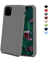 OJBKase Cover per iPhone 11 Pro (5,8 Pulgadas), Slim Líquido de Silicona Gel Carcasa Anti-Rasguño y Resistente Huellas Dactilares Totalmente Protectora Caso (Gris)
