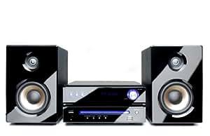 Dual DVD-MS 110 Micro chaîne Lecteur CD/DVD / Tuner FM RDS / USB / Entrée AUX 50 W Noir (Import Allemagne)