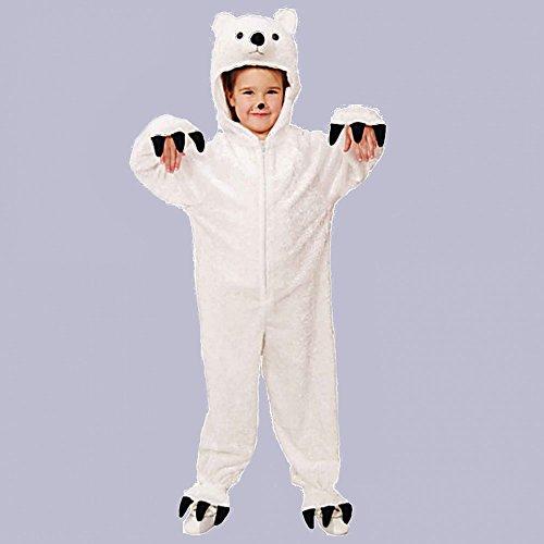 Imagen de disfraz de oso polar, el tamaño 116/128, mono animales ajuste blanco carnaval de los niños