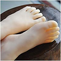 LUCKFY 1 Pair Female Feet Model Mannequin Leg Foot with Nail for Display Shoes Display Sandal Shoe Sock Display Art Sketch