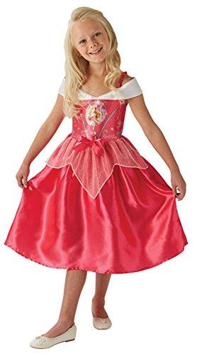 Faschingsfete Mädchen Kostüm Karneval Prinzessin Fairytale Dornröschen Sleeping Beauty, Rot, Größe 110-116, 5-6 Jahre