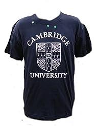 Université Cambridge T-shirt avec blason–T-Shirt Officiel de la World Famous Apple Université