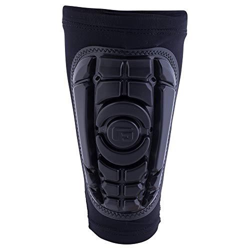 G-Form Pro-S Kompakte Schienbeinschoner (Herren/Damen) für Fußball, Kickboxen und Kampfsport, Inliner, Skateboard, mit erweitertem Schlagschutz und verbesserter Flexibilität - Schwarz - Größe L