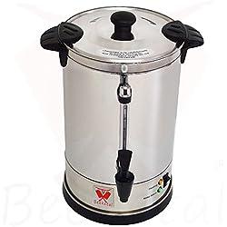 """Beeketal""""BGK6"""" Gastro Rundfilter Kaffeemaschine 6 Liter, Edelstahl Filterkaffeemaschine doppelwandig mit 2 Heizsystemen (Brühen/Warmhalten), Füllstandsanzeiger und rosftreiem Permanent-Filter"""