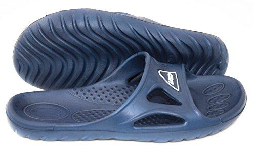 AQUA-SPEED - Badelatschen Herren - Ideal Für Schwimmbad Und Strand - Anti-Rutsch-Sohle - Sehr Leicht - #AS Vento blau