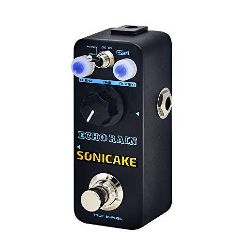sonicake Echo Rain digitale Delay Effetto della Chitarra Pedal Reale del percorso del segnale analogico chiaro caldi Reverse 6pollici della chitarra Patch cavo incluso