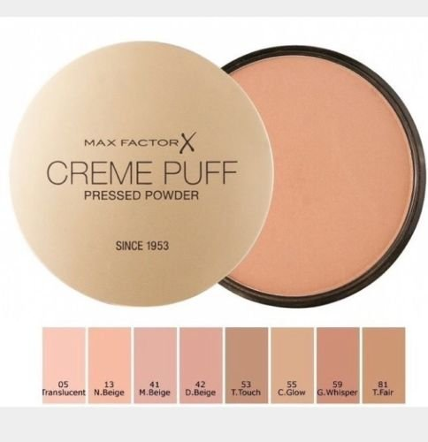 MAX FACTOR Creme Puff Face Foundation Make Up, Over 10 Different Cosmetic Shades Poducts To Choose From - (1 PACK, 05 translucent)