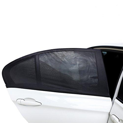 2ME Sonnenschutz Auto für Kinder Baby, Universelle Sonnenblenden für Deutsche Autos Seitenfenster mit UV Schutz - Max. to 113x50cm für Audi A6, BMW 7 und Mehr, 2 Stück
