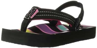 Reef Little Ahi Black/multi/stripes Casual Sandal R2199KMS .  5/6 US, 4/5 UK