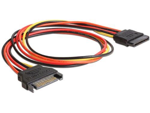 DeLock Spannungsversorgungs-Verlängerungskabel - 15 PIN SATA Power (M) - 15 PIN SATA Power (W), 60132 -