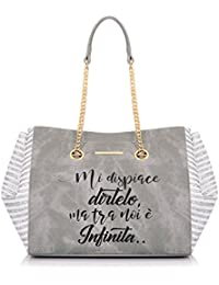 "Borsa Donna Shopping Bucket Bag ""Infinità"" | Le Pandorine | PE18DAT0217906-Grey"