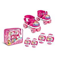 Mondo Motors  Princess Roller Skates and Protective Pads in Bag