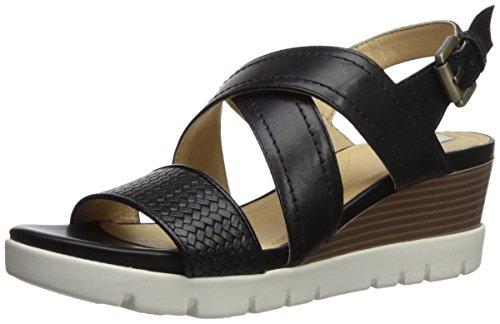 Geox d marykarmen plus b, sandali con zeppa donna, nero (black), 35 eu