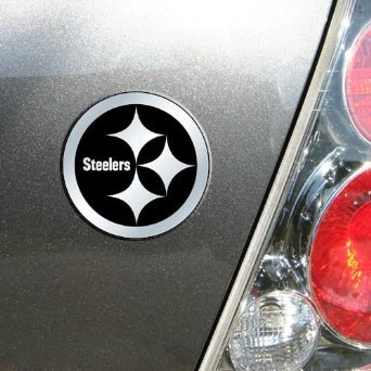 NFL Pittsburgh Steelers Chrome Automobile Emblem
