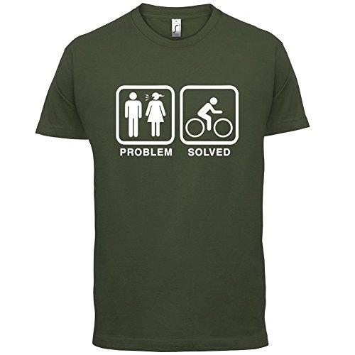 Problem gelöst - Rad fahren - Herren T-Shirt - 13 Farben Olivgrün