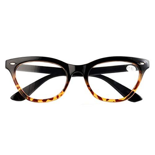 MUCHAO Vintage Clear Lens getönte Rahmenlinse Cat Eye-Lesebrille