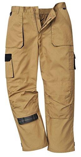 Handy Arbeit Hose Khaki (Arbeits Knie Polster Texo Hosen Arbietskleidung Cargo Hosen Kakhi / Beige mit schwarz - Khaki, XL 40)