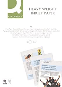 Q Connect A4 Heavy-Weight 140gsm Premium Inkjet Printer Paper - White (Pack of 100)