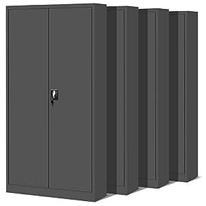 ensemble de 4 classeur armoire m tallique coffret en acier en t le d 39 acier armoire outils. Black Bedroom Furniture Sets. Home Design Ideas