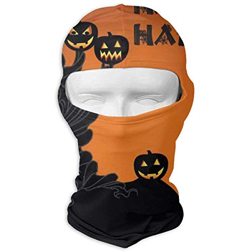 Nifdhkw Halloween Pumpkin Tree Fitness Winter Ski Mask Balaclava Hood - Wind-Resistant Face Mask ()