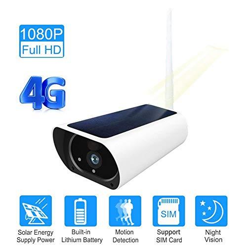 DHHZRKJ Mini Spy Cam SIM-Karte 3G 4G Solar WiFi Kamera Akku 1080P Zwei-Wege-Audio 60 ° Weitwinkel Sucher Videokamera Überwachungskamera Fernsicht Bewegungserkennung Sim-cam