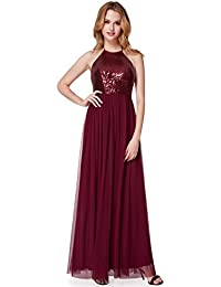 Ever Pretty Damen Lange A-Line bodenlangen Pailletten Neckholder Prom Abendkleid  Kleider 07286 04bf4f7c16