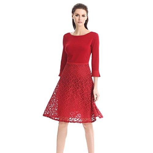 Gaoxu l'europe et les États - unis en long - taille robe et mets la robe au printemps et à l'automne.,rouge sang rouge,xxxxl