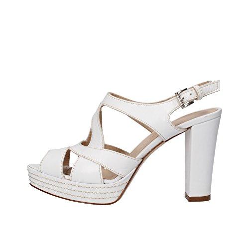 SERGIO CIMADAMORE sandali donna 35 EU bianco pelle AF487