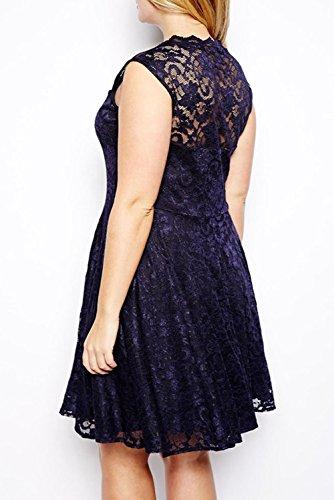 E-Girl Deman Schwarz SY21354XXL Cocktail Kleid Schwarz