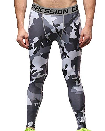 Hombre Mallas Térmicas de Compresión de Camo Deportes Running Pantal