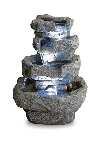 """Zimmerbrunnen \""""Shubunkin Spills\"""" mit LED-Beleuchtung 36cm"""