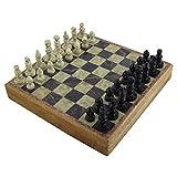 Mármol piedra Rajasthan arte único ajedrez de ajedrez y tablero de 25 x 25 cm