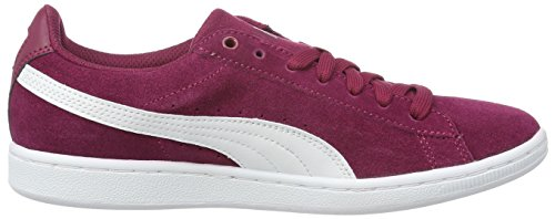Puma Damen Vikky Sfoam Sneakers Rot (Red Plum-puma White 12)