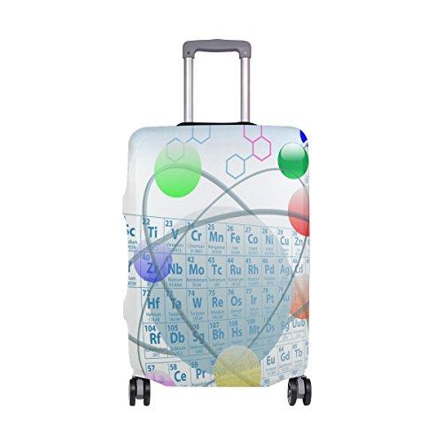 COOSUN Atómica Elementos de la Tabla periódica Química Diseño de impresión del Equipaje del Viaje Cubiertas Protectoras Lavable Spandex Equipaje Maleta Cubierta - Se Adapta a 18-32 Pulgadas S 18-20