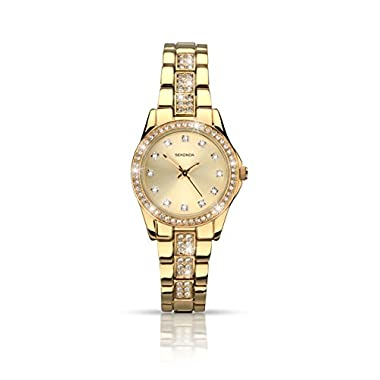 Sekonda Women's Quartz Watch with Gold Dial Analogue Display and Gold Alloy Bracelet 2020.27