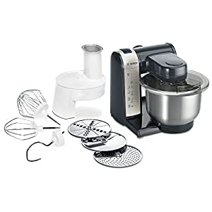 bosch mum48a1 robot culinaire 600 w bol m langeur inox rpeur minceur dvd de recettes interactif. Black Bedroom Furniture Sets. Home Design Ideas