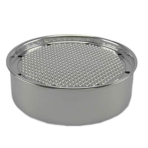 Grattugia Welk-Home in acciaio inox con coperchio.Dimensione cm.Ø18xh6.