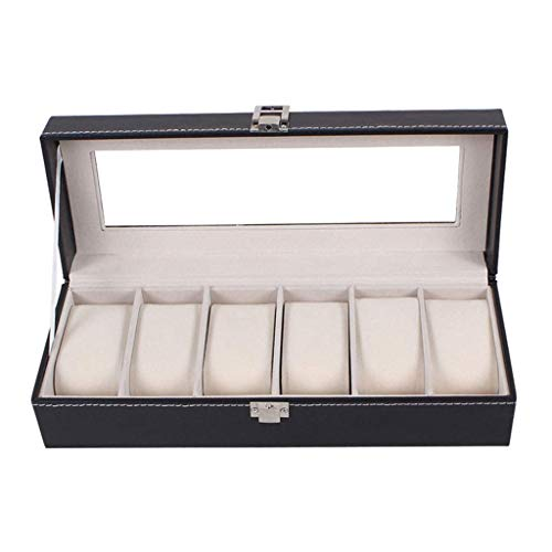 wellery Display Case Mens Watch Display Box, Accessories-Gift for Man, Women, Husband,Black ()