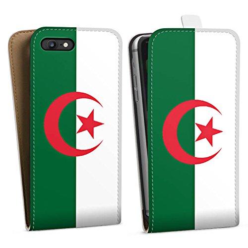 Apple iPhone X Silikon Hülle Case Schutzhülle Algerien Flagge Fußball Downflip Tasche weiß