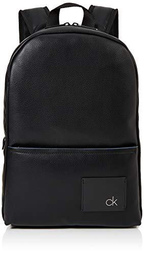 Calvin Klein Herren Ck Direct Round Backpack Rucksack, Schwarz (Black), 13x42x28 cm