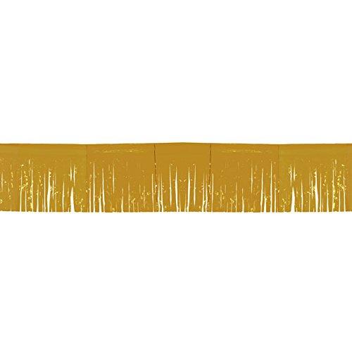 NEU Fransen-Girlande, 6 m, gold, 1 Stk. (Kunststoff-fransen-girlande)
